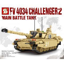 SHENG YUAN SY 0105 Xếp hình kiểu Lego MILITARY ARMY Survival Warfare FV 4034 Challenger-2 Main Battle Tank Survival War Challenger 2 Main Battle Tank Xe Tăng Chiến đấu Chính Của Challenger 2 904 khối