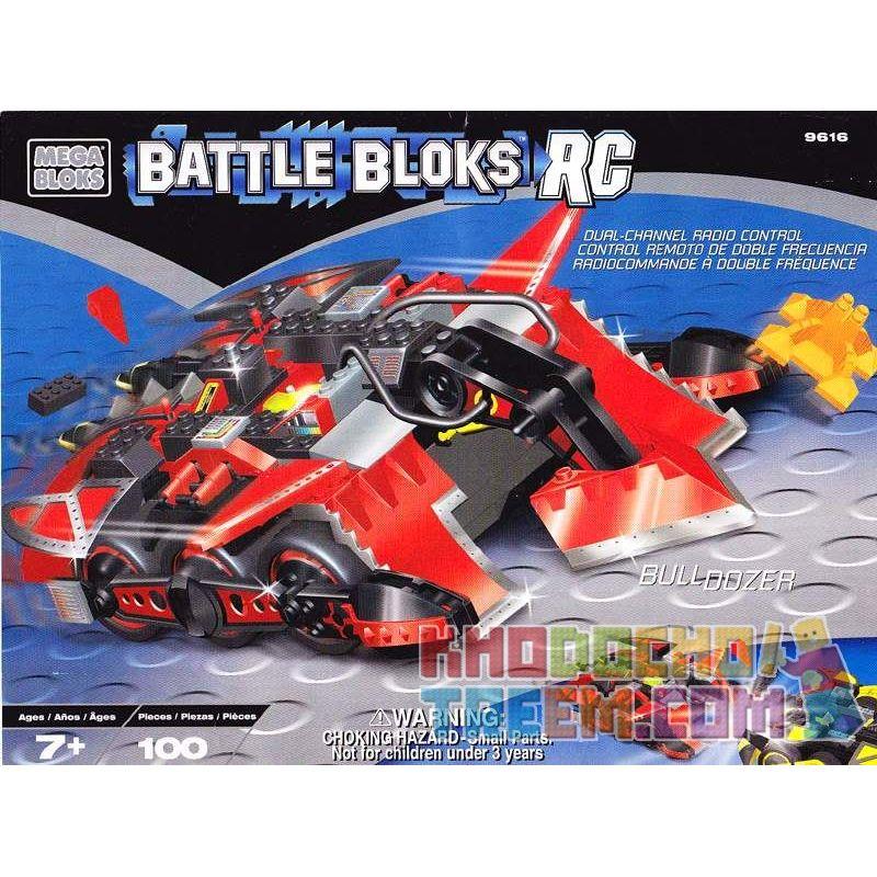MEGA BLOKS 9616 Xếp hình kiểu Lego BULL DOZER Bulldozer Chiếc Xe ủi 100 khối