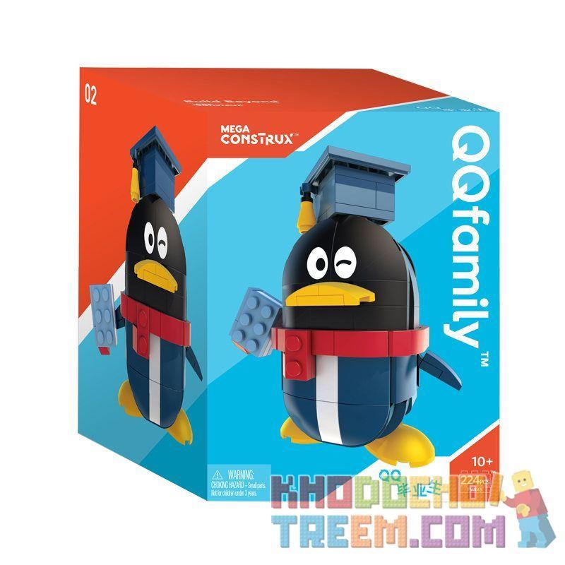 MEGA BLOKS FMR45 Xếp hình kiểu Lego QQFamily Is Happy Moments QQ Graduates QQfamily Happy Moments QQ Tốt nghiệp 223 khối