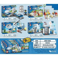 PRCK 65013 Xếp hình kiểu Lego Policemen Prisoners Pursued 4 Prisoner Pursuit 4 Phong Cách 484 khối