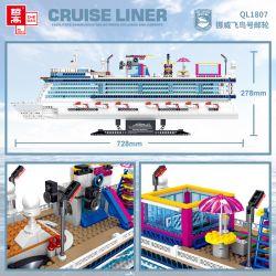 ZHEGAO QL1807 1807 Xếp hình kiểu Lego CREATOR Cruise Liner Norwegian Flying Bird Number Cruise Asuka Na Uy 2446 khối