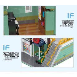 HAPPY BUILD SHINEYU XINYU YC-20008 20008 YC20008 Xếp hình kiểu Lego MINI MODULAR Streetcape City Street View Musical Instrument Store Cửa Hàng Nhạc Cụ 3005 khối