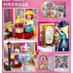 SLUBAN M38-B0876 B0876 0876 M38B0876 38-B0876 Xếp hình kiểu Lego DISNEY PRINCESS Girls's Dream Pink Dream Saint Via Princess Town Fashion Department Store Cửa Hàng Bách Hóa Thời Trang 526 khối