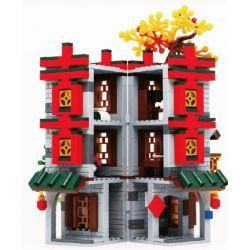 BRICKABLE BR BR60004 60004 Xếp hình kiểu Lego CREATOR Shuangxi Linmen Street View Double Happiness Chế độ Xem Phố Linmen