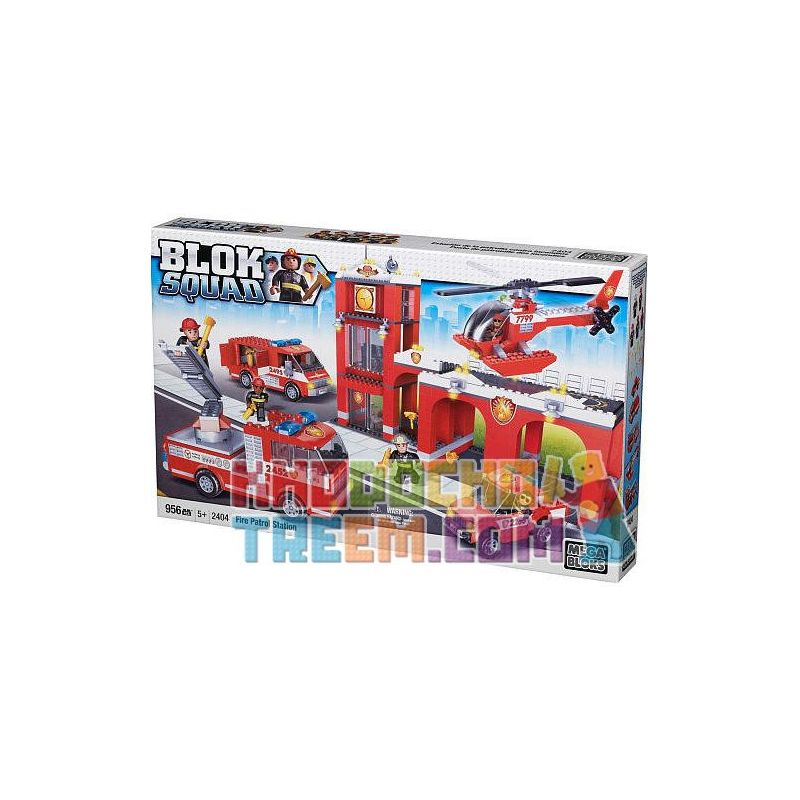 MEGA BLOKS 2404 Xếp hình kiểu Lego CITY Fire Patrol Station Fire Station Trạm Cứu Hỏa 965 khối