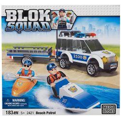 MEGA BLOKS 2421 Xếp hình kiểu Lego CITY Beach Patrol Coast Patrol Tuần Tra Bờ Biển 183 khối