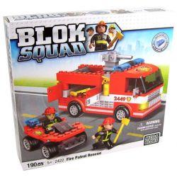 MEGA BLOKS 2422 Xếp hình kiểu Lego CITY Fire Patrol Rescue Tuần Tra Cứu Hỏa Và Cứu Nạn 190 khối