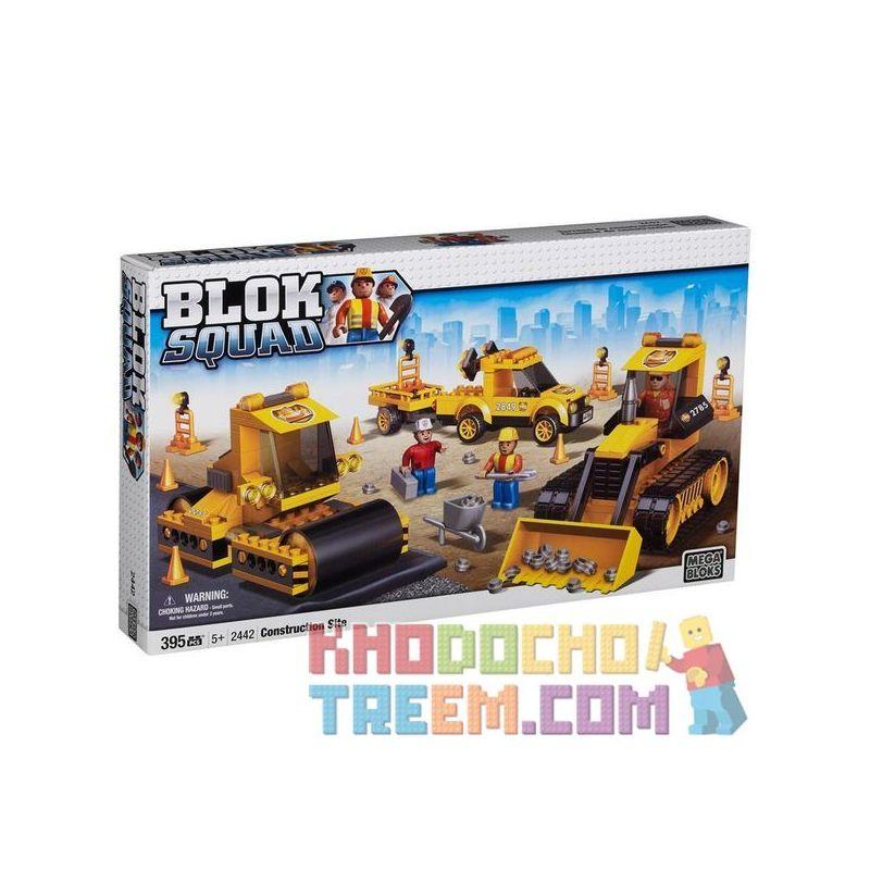 MEGA BLOKS 2442 2462 Xếp hình kiểu Lego CITY Construction Site Công Trường gồm 2 hộp nhỏ 395 khối