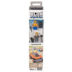 MEGA BLOKS 222 Xếp hình kiểu Lego CITY Construction ATV Engineering Full Terrain Vehicle Kỹ Thuật Xe địa Hình 48 khối