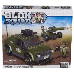 MEGA BLOKS 2424 Xếp hình kiểu Lego MILITARY ARMY Trooper SUV Soldier SUV Xe SUV Của Người Lính 169 khối