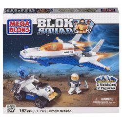 MEGA BLOKS 2436 Xếp hình kiểu Lego CITY Orbital Mission Track Mission Nhiệm Vụ Quỹ đạo 162 khối