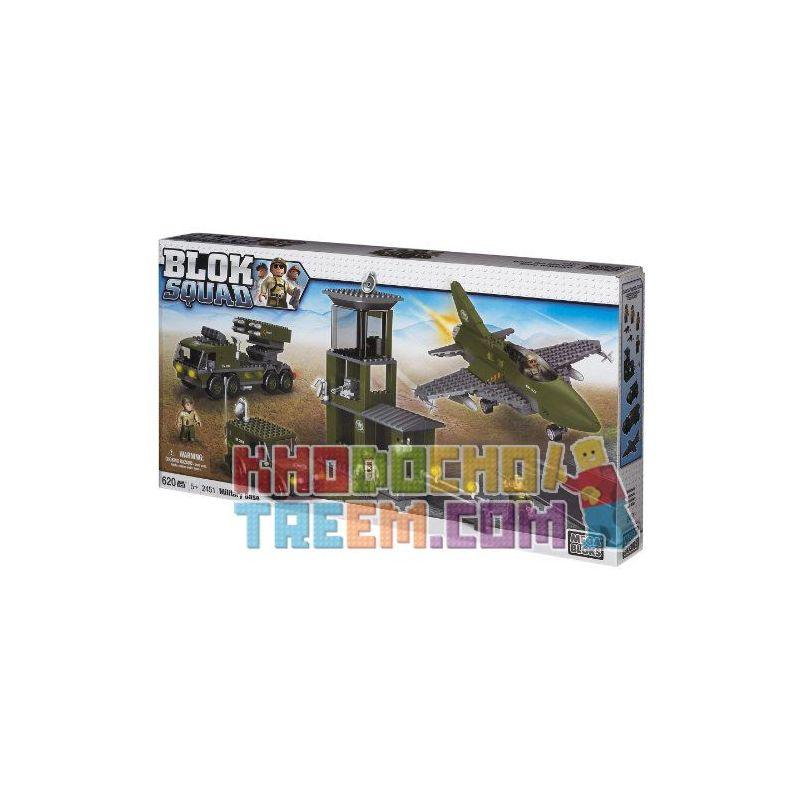 MEGA BLOKS 2451 Xếp hình kiểu Lego MILITARY ARMY Military Base Căn Cứ Quân Sự 620 khối