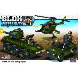 MEGA BLOKS 2465 Xếp hình kiểu Lego MILITARY ARMY Military Brigade Military Troops Quân đội 346 khối