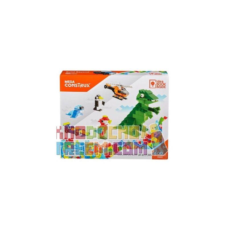 MEGA BLOKS FRB52 Xếp hình kiểu Lego Colorful Box Of Blocks Hộp đầy Màu Sắc 600 khối