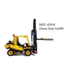 REBRICKABLE MOC-37091 37091 MOC37091 Xếp hình kiểu Lego TECHNIC Forklift Mobile Crane Cần Trục Di động 802 khối
