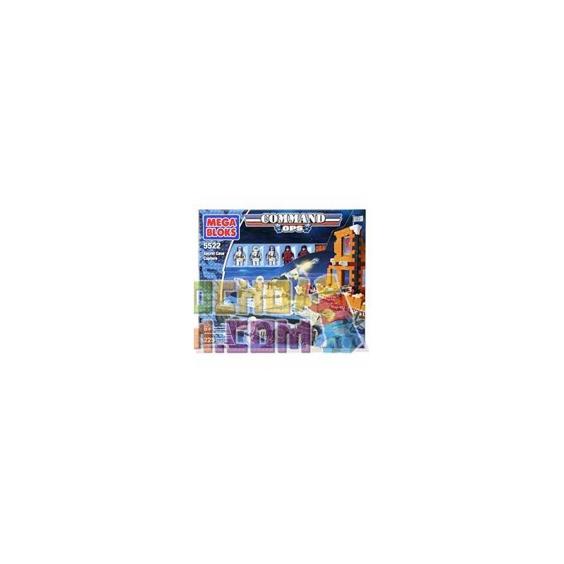 MEGA BLOKS 5522 Xếp hình kiểu Lego Secret Case Capture Capture Secret Box Chụp Chiếc Hộp Bí Mật 225 khối