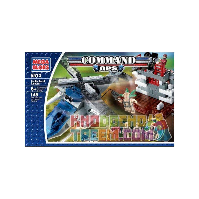 MEGA BLOKS 5513 Xếp hình kiểu Lego Double Agent Ambush Phục Kích Hai đặc Vụ 145 khối