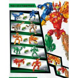 PanlosBrick 633061 Panlos Brick 633061 Xếp hình kiểu Lego DINO Dinosaur Mecha Straight Dinosaurizer 5 In 1 Color Mech Khủng Long Thay đổi Thẳng 5 Trong 1 đa Hình Dạng 1215 khối