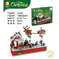 FORANGE FC6003 6003 Xếp hình kiểu Lego Merry Christmas Flying Christmas Party Tiệc Giáng Sinh Bay 940 khối