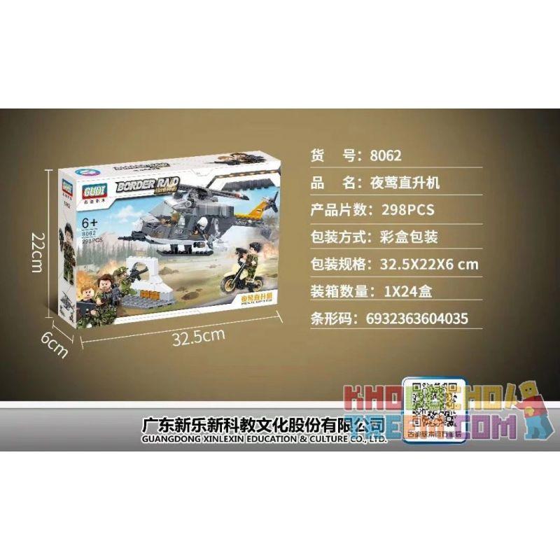 GUDI 8062 Xếp hình kiểu Lego MILITARY ARMY Border Raid Border Assault Nightingale Helicopter Trực Thăng Nightingale 298 khối