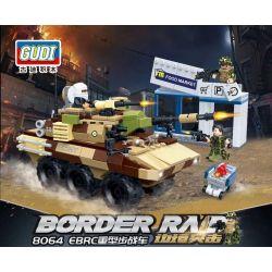 GUDI 8064 Xếp hình kiểu Lego MILITARY ARMY Border Raid Border Assault EBRC Heavy Duty Warfare Xe Chiến đấu Bộ Binh Hạng Nặng EBRC 403 khối