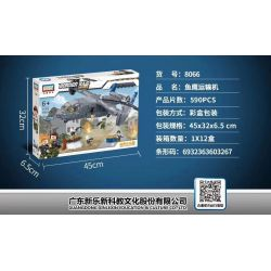 GUDI 8066 Xếp hình kiểu Lego MILITARY ARMY Border Raid Border Assault Fish Eagle Transporter Fish Eagle Transporter. 590 khối