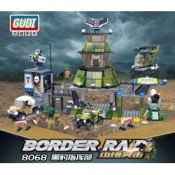 GUDI 8068 Xếp hình kiểu Lego MILITARY ARMY Border Raid Border Assault Panther Headquarters Lệnh Panther 754 khối
