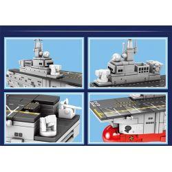 SEMBO 202075 Xếp hình kiểu Lego MILITARY ARMY PLA. Navy Type 75 Landing Helicopter Dock Q Version 075 Amphibious Attack Ship Tàu Tấn Công đổ Bộ Phiên Bản Q 075 367 khối