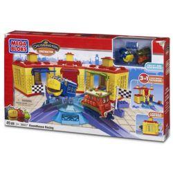 MEGA BLOKS 96627 Xếp hình kiểu Lego RACING Roundhouse Racing Machine Room Competition Phòng Máy Trò Chơi 49 khối