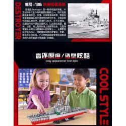HENGTAI 92008 Xếp hình kiểu Lego Hangzhou Destroyer 1 275 Khu Trục Hạm Hàng Châu 1 275 2462 khối