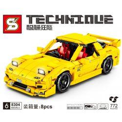SHENG YUAN SY 8304 Xếp hình kiểu Lego TECHNIC Mazda RX-7 Tribute Mazda RX7 Mazda RX7. 772 khối
