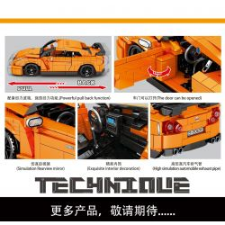 SHENG YUAN SY 8407 Xếp hình kiểu Lego TECHNIC Tribute Nissan GTR35 Nissan GTR35. 908 khối