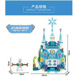 PanlosBrick 633048 Panlos Brick 633048 Xếp hình kiểu Lego FRIENDS Princess Castle Ice Castle 12 In 1 25 Lâu đài Băng 12 Trong 1 25 Thay đổi Hình Dạng 554 khối
