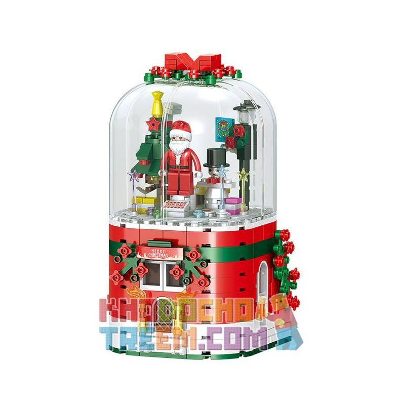ZHEGAO QL0981 0981 Xếp hình kiểu Lego Merry Christmas Christmas Music Box Hộp Nhạc Giáng Sinh 355 khối