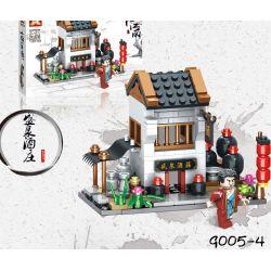 SX 9005-1 9005-2 9005-3 9005-4 Xếp hình kiểu Lego MINI MODULAR 江南 水乡 4 Fuyuan Inn, China Street, Lin'an, And The Good Buns, Yongan Grocery Shop, Shengquan Winery 4 Phong Cách ở Lin'an China Street Fuy