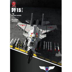 JUHANG 88006 JUHANG TECHNOLOGY 88006 Xếp hình kiểu Lego MILITARY ARMY J-15 Flying Shark 歼 -15 Flying Shark Cá Mập Bay J-15 1999 khối