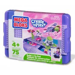 MEGA BLOKS 298 Xếp hình kiểu Lego FRIENDS Build 'n Go Pad (girls) Build 'N Go Pad (Girl) Build'n Go Pad (cô Gái) 75 khối