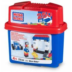MEGA BLOKS 253 Xếp hình kiểu Lego Micro Bloks Tub 250 Pieces Micrel 250 Blocks 250 Thùng Micro 250 khối