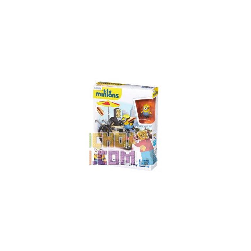 MEGA BLOKS CNF51 Xếp hình kiểu Lego TOWN Flying Hot Dogs Xúc Xích Bay 63 khối