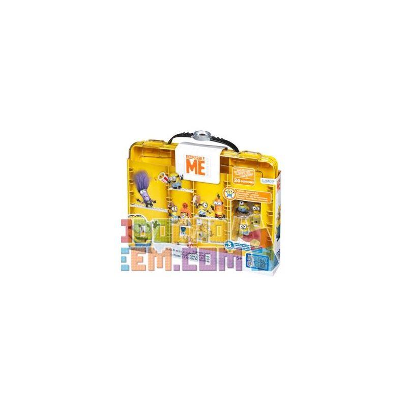 MEGA BLOKS DNC19 Xếp hình kiểu Lego Minions Display Case Small Yellow People Showcase Hộp Trưng Bày Minions 28 khối