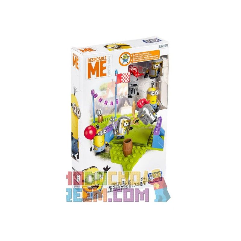 MEGA BLOKS DKX75 DPG69 Xếp hình kiểu Lego Medieval Mischief Medieval Prank Trò đùa Thời Trung Cổ 74 khối
