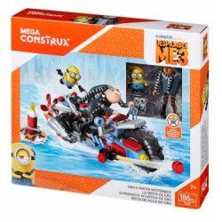 MEGA BLOKS FDX82 Xếp hình kiểu Lego MOTO Gru's Water Motorbike Gru's Water Motorcycle Mô Tô Nước Của Gru 186 khối
