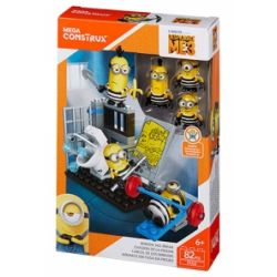 MEGA BLOKS FFJ32 Xếp hình kiểu Lego Minions Jail Break Small Yellow Prison Escape Tay Sai Thoát Khỏi Nhà Tù 82 khối