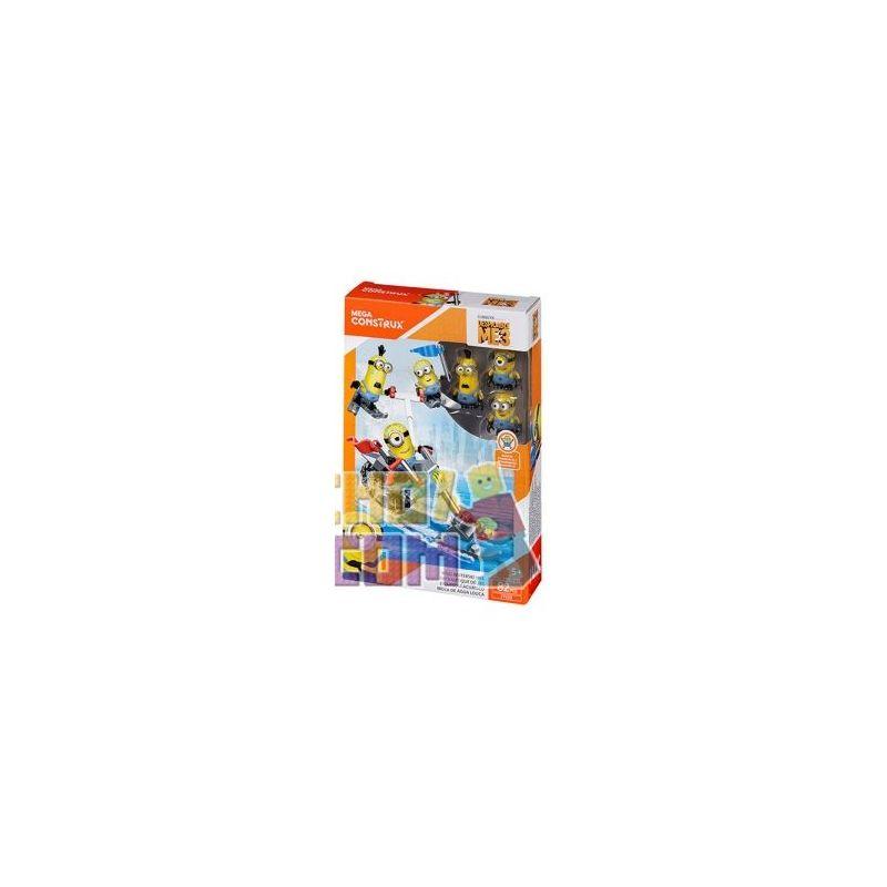 MEGA BLOKS FFJ33 Xếp hình kiểu Lego Wild Waterski Bike Wild Water Bicycle Xe đạp Nước Hoang Dã 82 khối