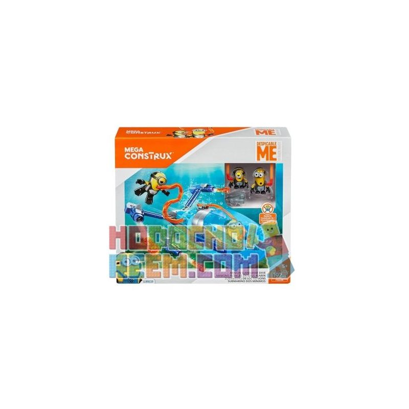 MEGA BLOKS FND06 Xếp hình kiểu Lego Minions Submarine Dive Small Yellow Submarine Tàu Ngầm Minions 192 khối