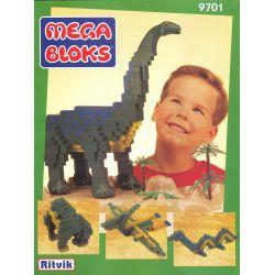MEGA BLOKS 9701 Xếp hình kiểu Lego Brontosaurus Brontosaurus. 740 khối