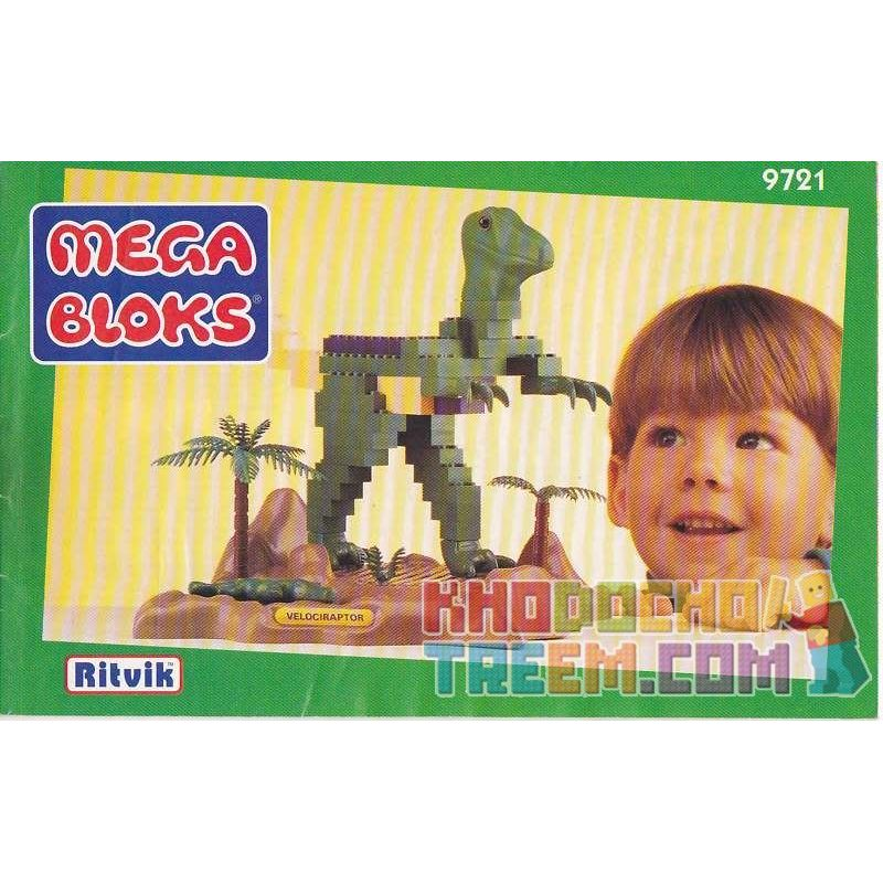 MEGA BLOKS 9721 Xếp hình kiểu Lego Velociraptor 伶 伶. 175 khối