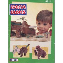 MEGA BLOKS 9711 Xếp hình kiểu Lego Triceratops Triceratops. 415 khối
