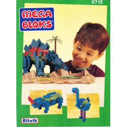 MEGA BLOKS 9712 Xếp hình kiểu Lego Stegosaurus Jianlong Jianlong. 415 khối
