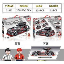 LEYI 31022 Xếp hình kiểu Lego RACING Passion Car R56 Sports Car Back Car Xe Thể Thao R56 338 khối
